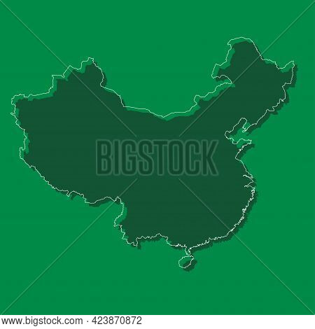 Vector Asia Country Map China On Background
