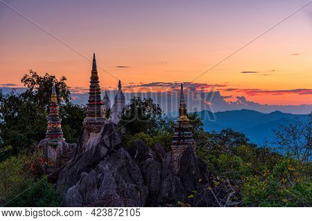 Chaloem Phra Kiat Phrachomklao Rachanusorn Temple It Is Amazing Public Temple On Top Of Mountain At