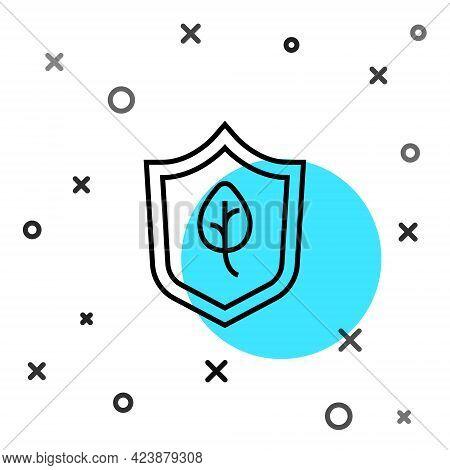 Black Line Vegan Food Diet Icon Isolated Black Line Background. Organic, Bio, Eco Symbol. Vegan, No