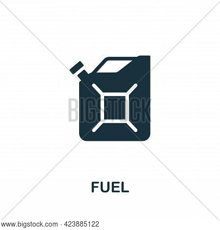 Fuel Icon. Monochrome Simple Element From Oil Industry Collection. Creative Fuel Icon For Web Design