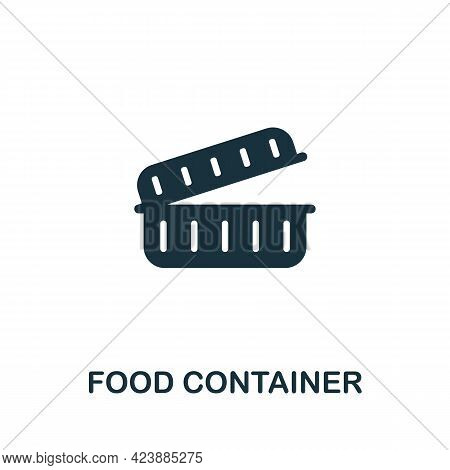 Food Container Icon. Monochrome Simple Element From Packaging Collection. Creative Food Container Ic