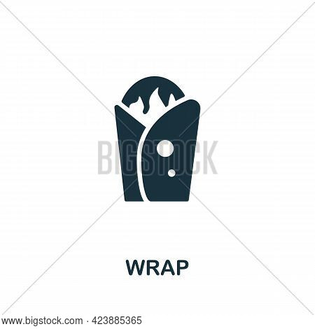 Wrap Icon. Monochrome Simple Element From Packaging Collection. Creative Wrap Icon For Web Design, T