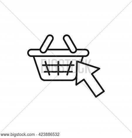 Shopping Cart with Arrow icon. Shopping Cart icon. Shopping icon. Shopping Cart with Arrow icon vector. Shopping cart icon set. Online Shop icon. Shopping Cart icon. Shopping Cart with Arrow design for website, icon, logo, sign, symbol, app UI