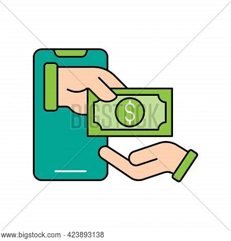 Mobile Payment icon. Digital Mobile Payment icon. Mobile Payment icon Vector. Mobile Payment vector. Mobile Payment Security and Safety icon vector design concept for Online Shopping, Finance, and Mobile Banking website, symbol, sign, App UI