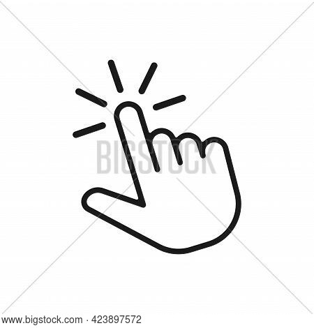 Hand Click Icon Symbol. Clicking Finger Icon. Hand Pointer Icon Illustration Isolated On White Backg
