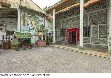 Penang, Malaysia - February 14,2019 : Beautiful View Of Thean Hou Temple In Penang, Malaysia On Febr
