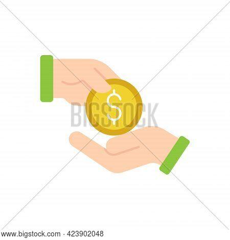 Money with Hand icon. Money icon. Money icon vector. Money Cash icon. Money cash vector. Money Vector. Dollar Money symbol. Money Logo. Money Sign. Dollar Money icon logo template. Money with Hand icon design for web, logo, sign, symbol, app UI