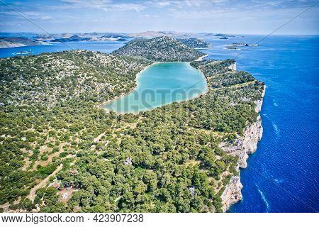 Kornati Islands National Park Telascica Bay Including Lake Archipelago Aerial Panoramic View, Landsc