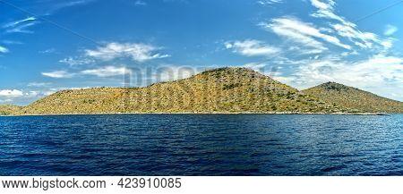 Kornati Islands National Park Archipelago Panoramic View, Landscape Of Dalmatia, Croatia In Europe