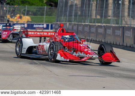 June 11, 2021 - Detroit, Michigan, USA: MARCUS ERICSSON (8) of Kumla, Sweden practices for the Chevrolet Detroit Grand Prix at the Belle Isle in Detroit, Michigan.