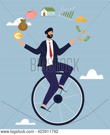 Financial Consultant Advisor Abstract Metaphor. Investment Expertise Concept. Smart Entrepreneur Man