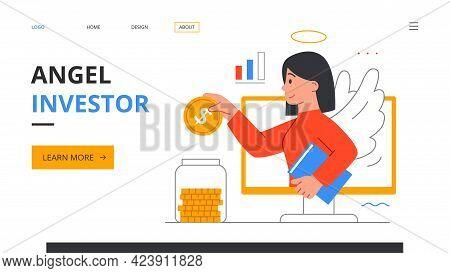 Angel Investor, Online Meetup, Online Crowdfunding, Entrepreneurship. Business Startup And Communica