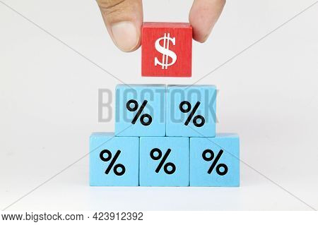 The Percentage Blue Cube And The Profit Red Cube Are Taken