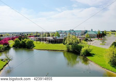 Woodstock, Ontario/canada- May 25: An Aerial View Of Fanshawe College In Woodstock, Ontario, Canada