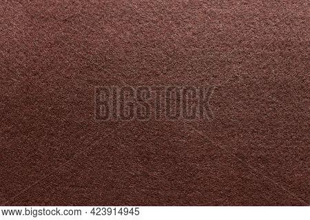 Soft Brown Felt Fabric. Felt Texture For Background