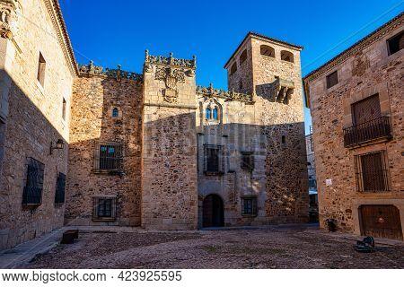 Cathedral Of Santa Maria De La Asuncion In Caceres, Extremadura, Spain.