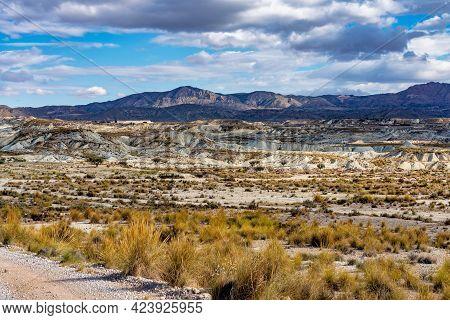 The Badlands Of Abanilla And Mahoya Near Murcia In Spain. An Area Where A Lunar Landscape Has Been F