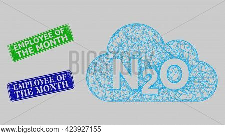Carcass Net Nitrous Oxide Gas Model, And Employee Of The Month Blue And Green Rectangular Textured S