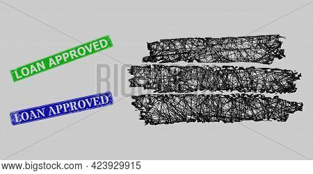 Carcass Net Charcoal Texture Template Model, And Loan Approved Blue And Green Rectangular Corroded S