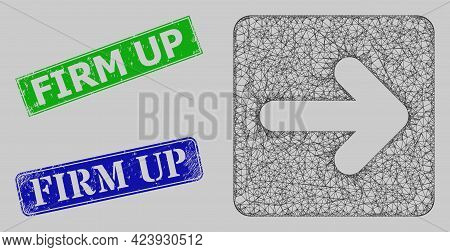 Carcass Net Mesh Right Cursor Model, And Firm Up Blue And Green Rectangular Textured Stamp Seals. Ca