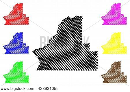Walla Walla County, State Of Washington (u.s. County, United States Of America, Usa, U.s., Us) Map V