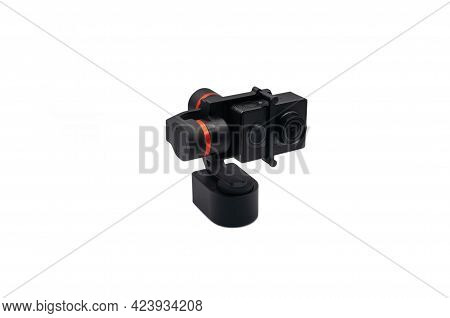Action Camera. Stabilizer For An Action Camera.
