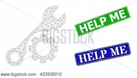 Mesh Tuning Wrench Image, And Help Me Blue And Green Rectangular Grunge Watermarks. Mesh Carcass Ill
