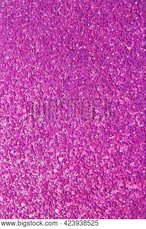 Abstract Pink Bright Background With Multicolored Sparkles. Festive Concept. Vertical Background