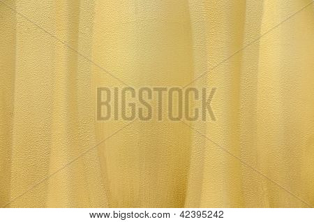 Yellow Textured Wavey Wall Background