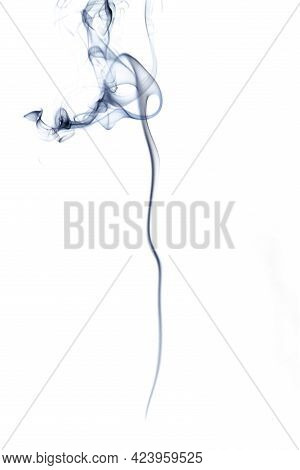 Smoke Steam. Blur Black Smoke, Abstract Fog Or Steam Mist Cloud Isolated On White Background. Steam
