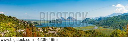 Skadar Lake National Park In Montenegro, Balkans, Europe. Travel And Tourism.
