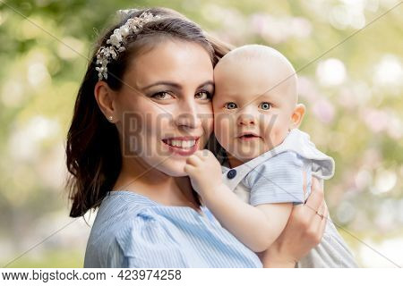 Portrait of a mother with her son