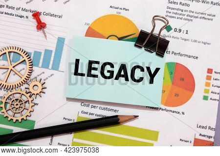 Legacy Word On Card Index Paper. Business