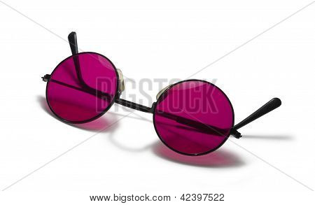 Red Sunglasses On White