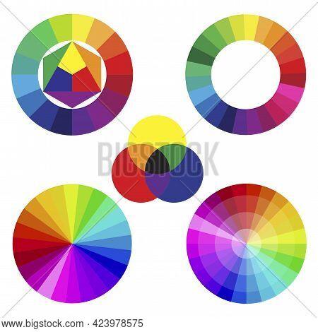 Set Colors Spectrum. Rainbow Gradient Set. Color Pattern. Vector Illustration. Stock Image.