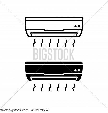 Air Conditioner Icon Vector Illustration. Air Conditioner Symbol.