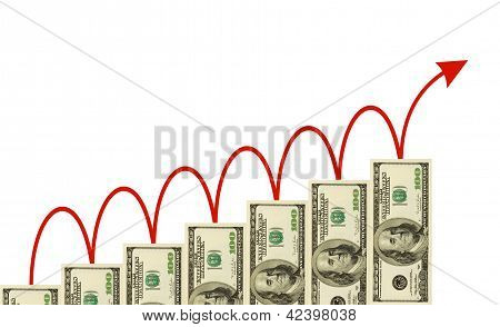 Money Staircase And Arrow