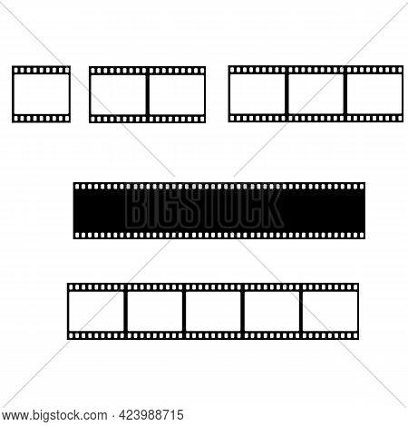 Film Strip Line Icon. Cinema Strip Templates. Film 35mm Sign. Flat Style.