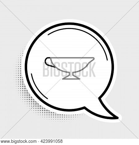 Line Sauce Boat Icon Isolated On Grey Background. Sauce Bowl. Colorful Outline Concept. Vector