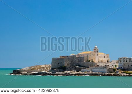 Old city Vieste, Apulia region, Italy