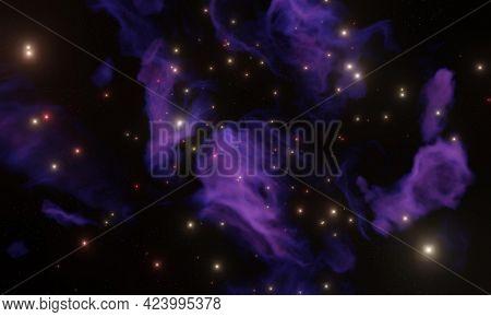 Galaxy nebula 3d render Galaxy nebula 3d render