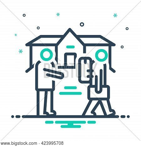 Mix Icon For Eviction Removal Expulsion Ostracism Rustication  Ejectment