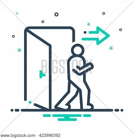 Mix Icon For Exit Egress Evacuation Outturn Vent