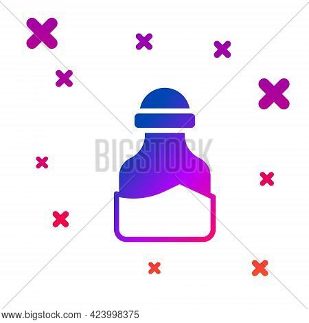 Color In Can Icon Isolated On White Background. Seasoning Collection. , Condiments In A Glass Can. G