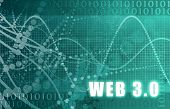 Web 3.0 on a Digital Tech Background poster