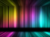 Many color lines with 3d effect of room poster