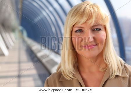Smiling Middleaged Woman