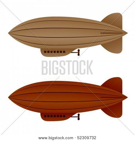 vector brown vintage airship zeppelin