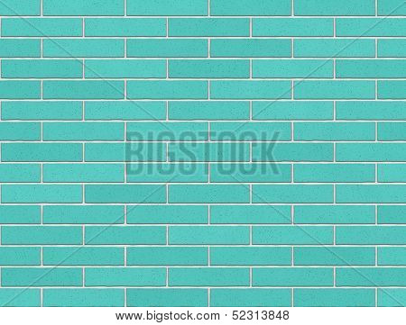 Exterior Brick Wall In Cerulean, Texture, Background