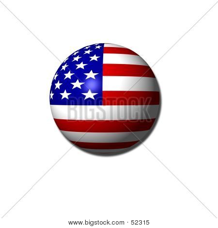 Ameican Flag Orb